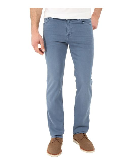 7 For All Mankind | Blue Luxe Performance Slimmy Slim Straight In Twill Colors for Men | Lyst