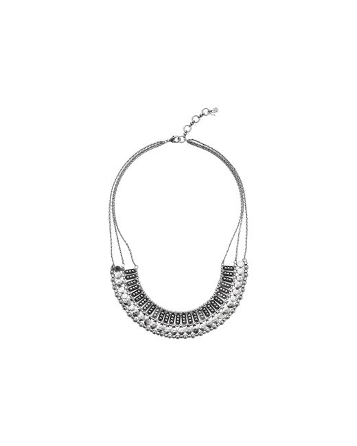 Lucky Brand | Metallic Textured Metal Necklace | Lyst
