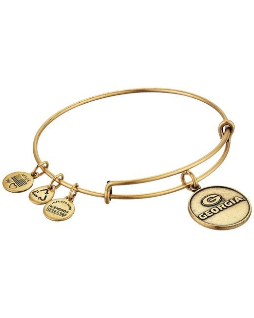 ALEX AND ANI | Metallic University Of Georgia® Logo Charm Bangle | Lyst