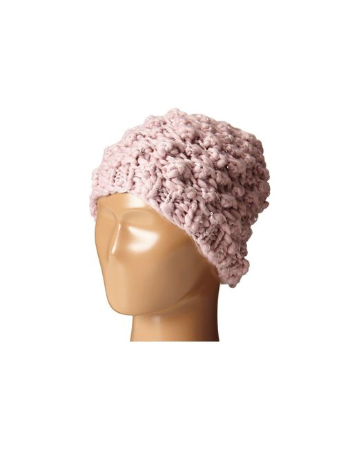 San Diego Hat Company - Pink Knh3352 Chunky Yarn Beanie With Silver Sequin Thread (blush) Beanies - Lyst