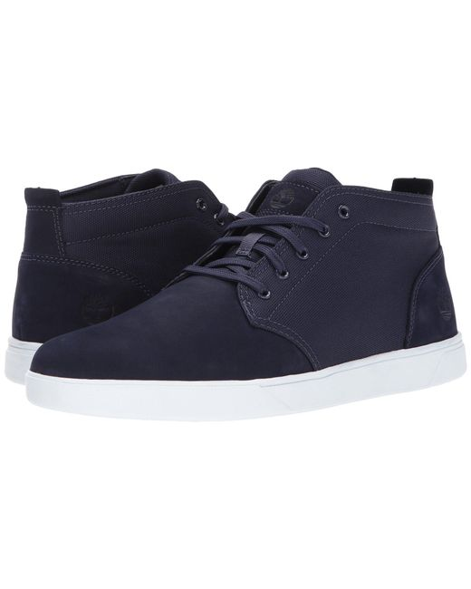 Timberland | Blue Groveton Leather And Fabric Chukka for Men | Lyst
