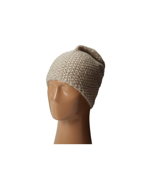 Hat Attack | Natural Cozy Slouchy/cuff Hat | Lyst