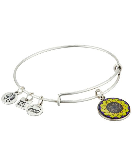ALEX AND ANI | Metallic Sunflower Charm Bangle | Lyst