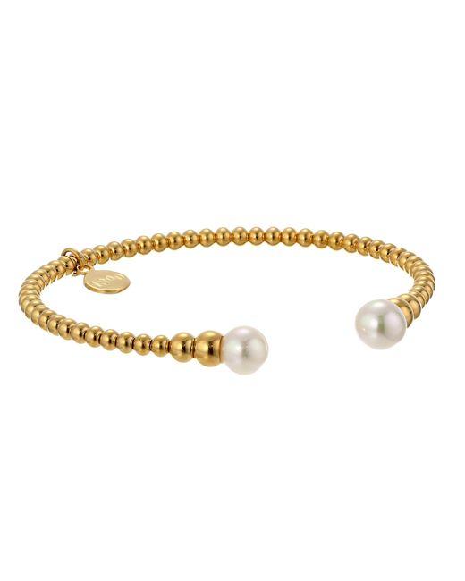 Majorica   Metallic 8mm Round Pearl Bangle Bracelet   Lyst