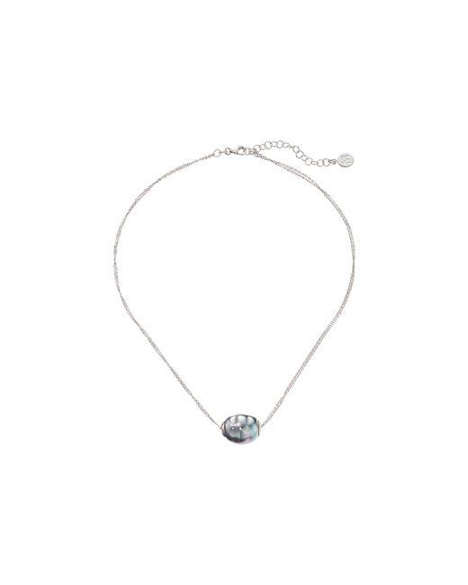 Majorica   Metallic 14mm Baroque 2 Row Chain Necklace   Lyst