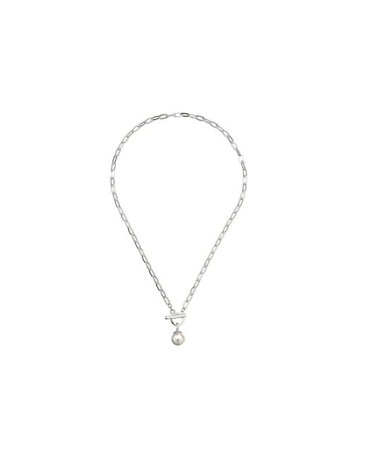 Majorica | Gray 12mm Ss W/ Small Oval Necklace | Lyst