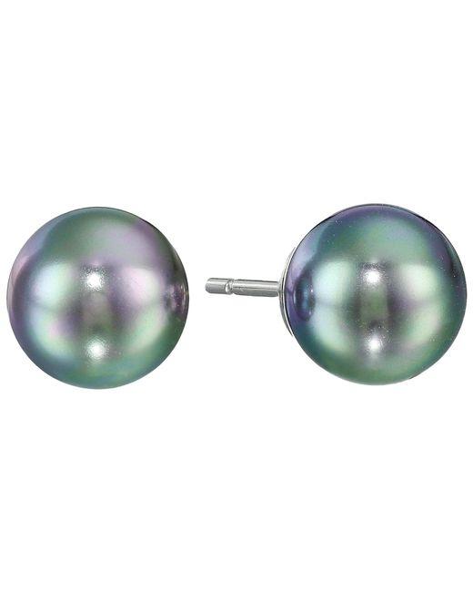 Majorica | Gray 8mm Pearl Ss Earrings | Lyst