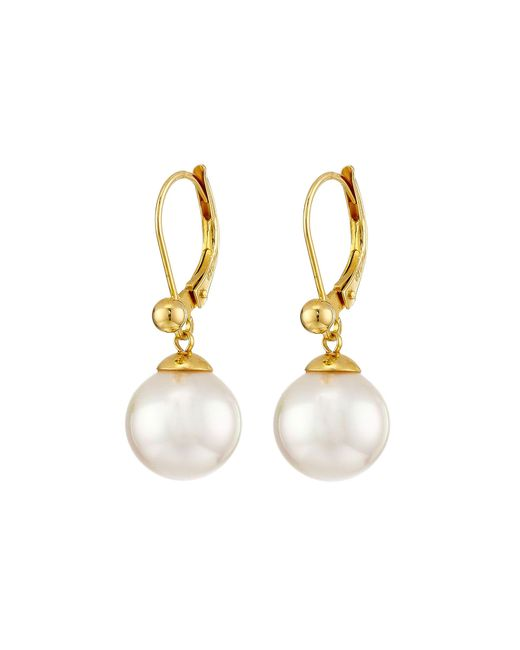 Majorica | White 10mm Euro Earrings | Lyst