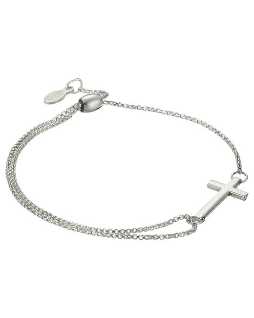 ALEX AND ANI | Metallic Precious Ii Collection Cross Adjustable Bracelet | Lyst