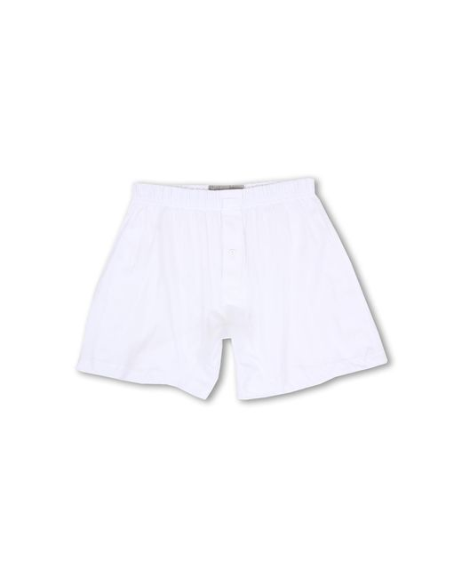 2xist | White Pima Knit Boxer for Men | Lyst