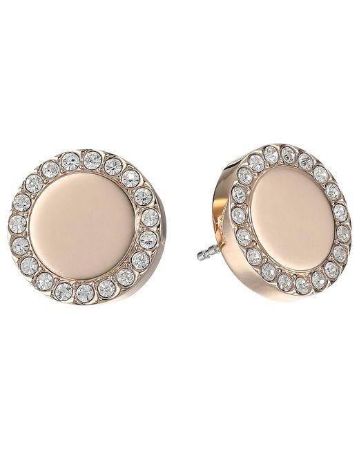 Fossil | Pink Glitz Metal Stud Earrings | Lyst