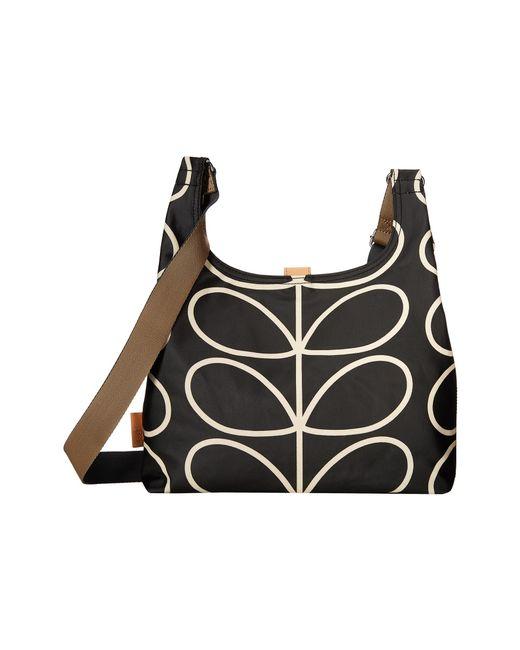 Orla Kiely | Black Midi Sling Bag | Lyst