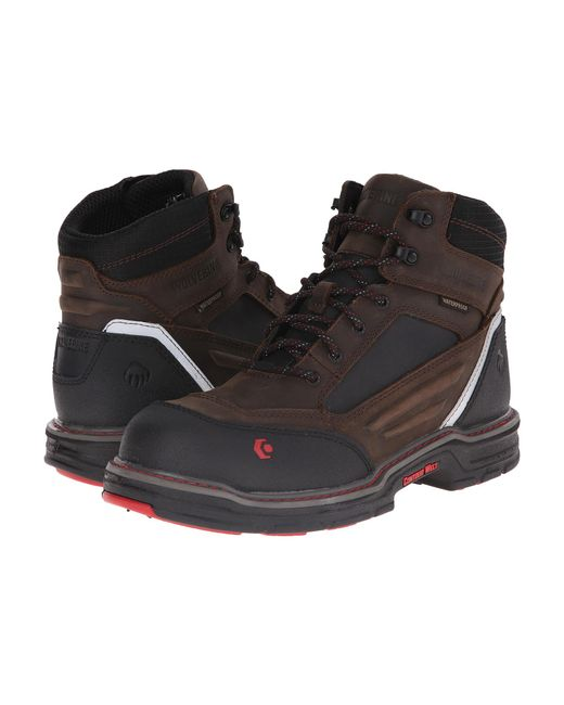 "Wolverine | Brown Overman 6"" Composite Toe Boot for Men 