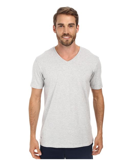 Lacoste | Gray Pique Lounge Short Sleeve Pique for Men | Lyst