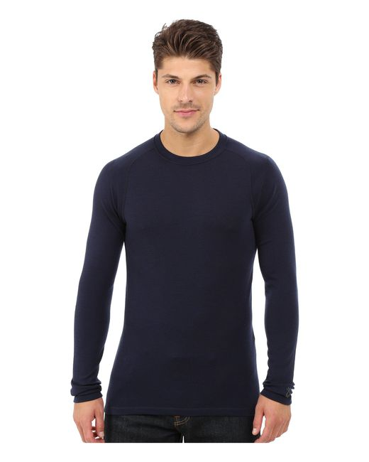 Smartwool | Blue Nts Mid 250 Crew Top for Men | Lyst