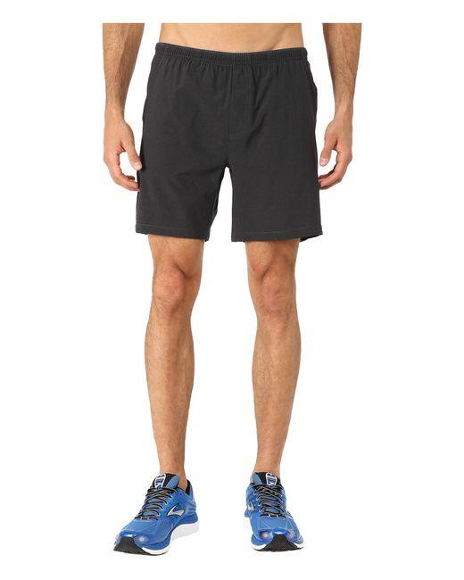 "Brooks | Black Sherpa 7"" Shorts for Men | Lyst"
