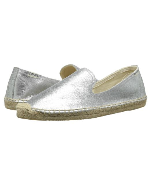 Soludos | Metallic Smoking Slipper Jupiter Leather | Lyst