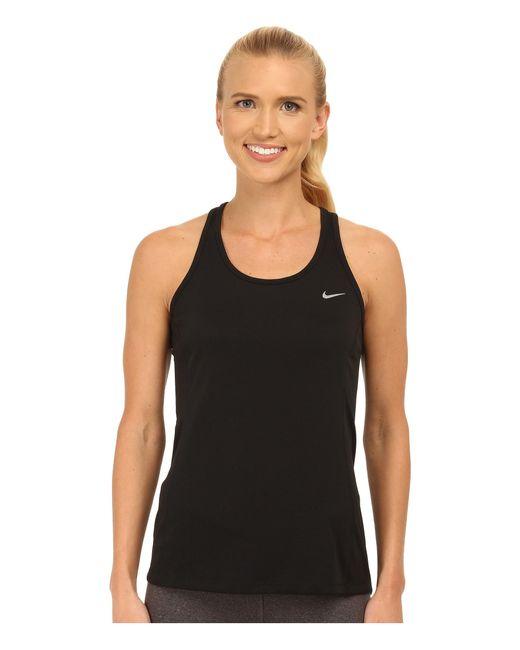 Nike | Metallic Dry Contour Running Tank | Lyst