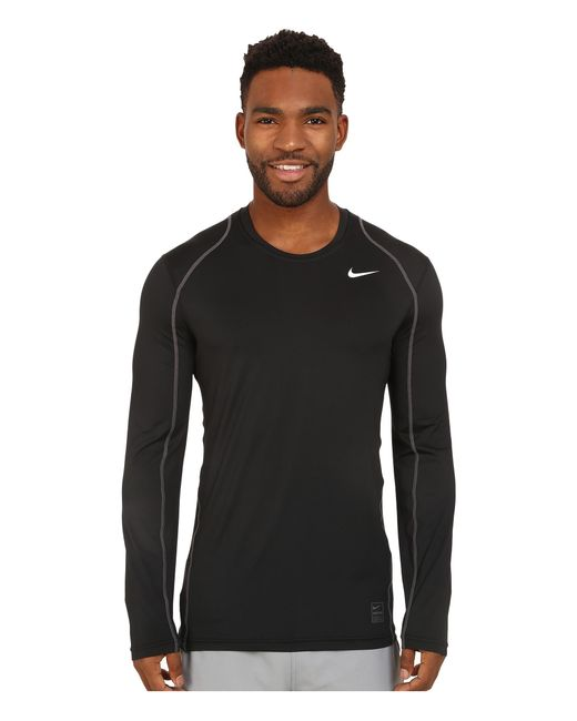 Nike | Black Pro Cool Fitted L/s for Men | Lyst