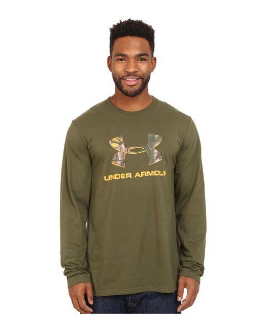 Under Armour | Green Camo Fill Logo Long Sleeve Tee for Men | Lyst