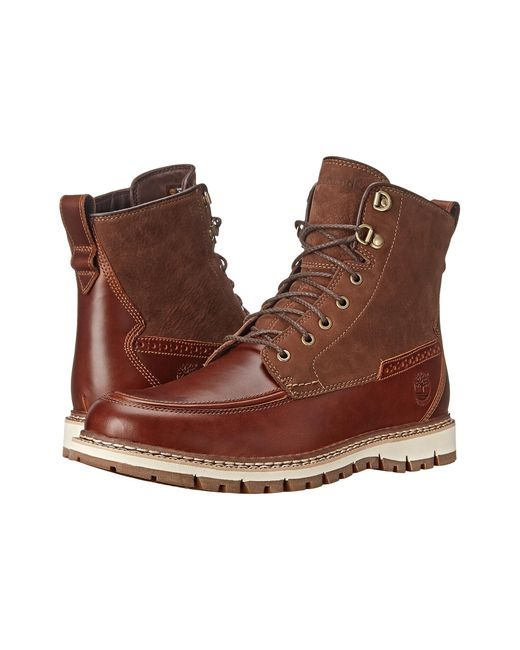 Timberland | Brown Britton Hill Waterproof Moc Toe Boot for Men | Lyst