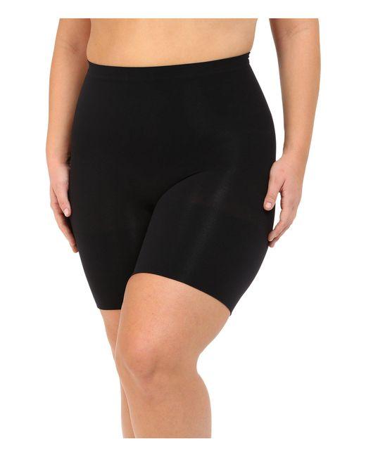 Spanx | Black Plus Size Power Shorts | Lyst
