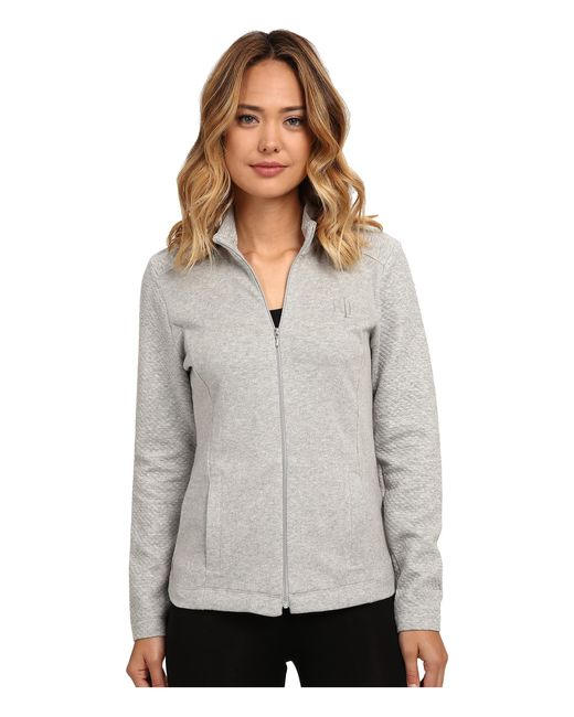 Lauren by Ralph Lauren | Gray Zip Front Lounge Jacket | Lyst