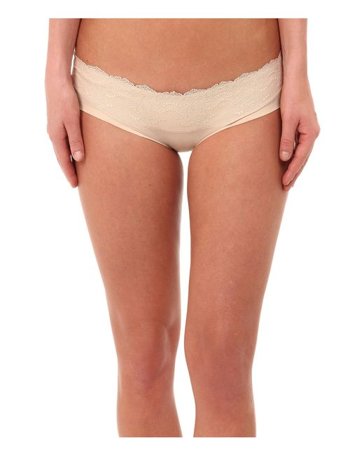Spanx   Natural Lace Waist Hipster   Lyst