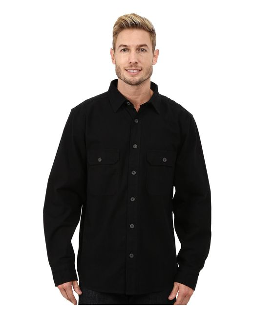 Woolrich | Black Expedition Chamois Shirt for Men | Lyst