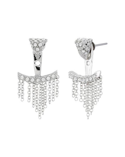 Vince Camuto | Metallic Triangle & Fringe Ear Jacket Earrings | Lyst