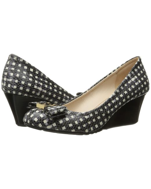 Cole Haan | Black Tali Grand Bow Wedge 65 | Lyst