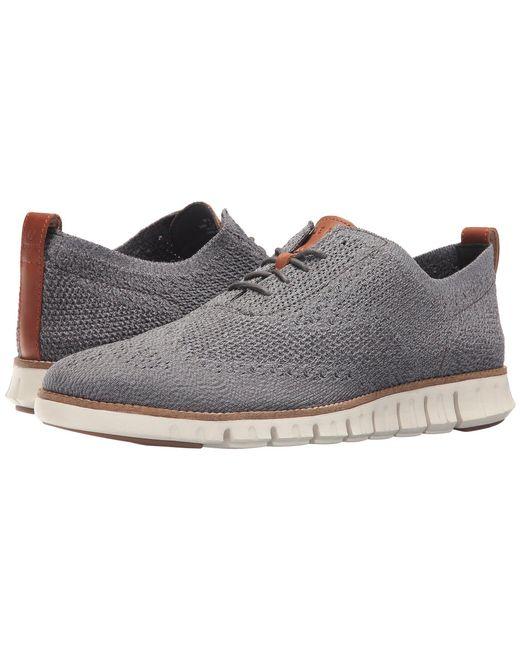 Cole Haan - Gray Zerogrand Stitchlite Oxford (optic White/white) Men's Plain Toe Shoes for Men - Lyst