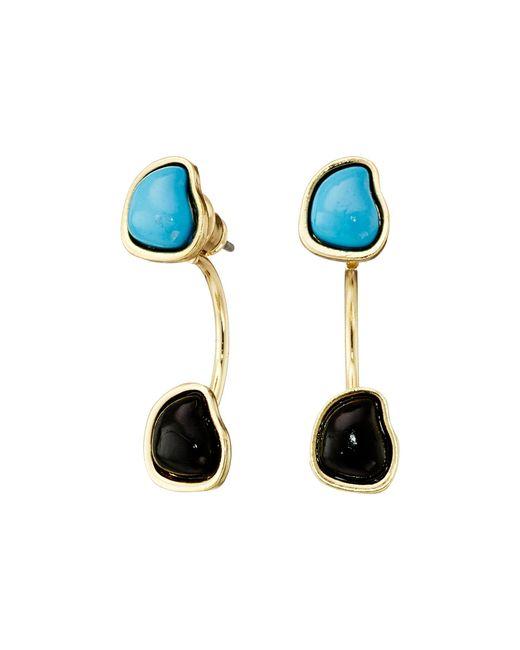 Sam Edelman | Blue Two Stone Floater Earrings | Lyst