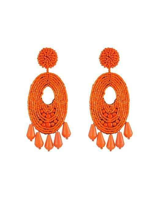 Kenneth Jay Lane   Pink Oval W/ Drops Round Top Earrings   Lyst