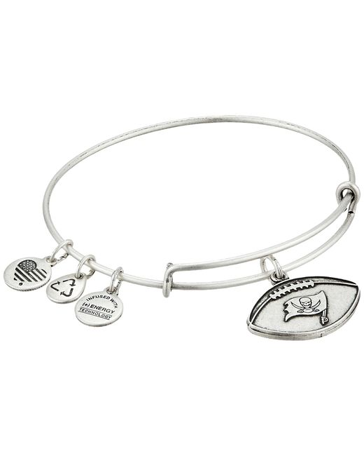 ALEX AND ANI | Metallic Nfl Tampa Bay Buccaneers Football Bangle | Lyst