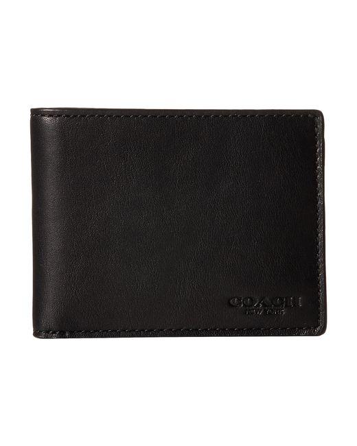COACH | Black Sport Calf Slim Billfold Id Wallet for Men | Lyst