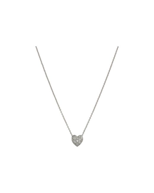 Roberto Coin | Metallic Puffed Heart Pendant With Diamonds | Lyst