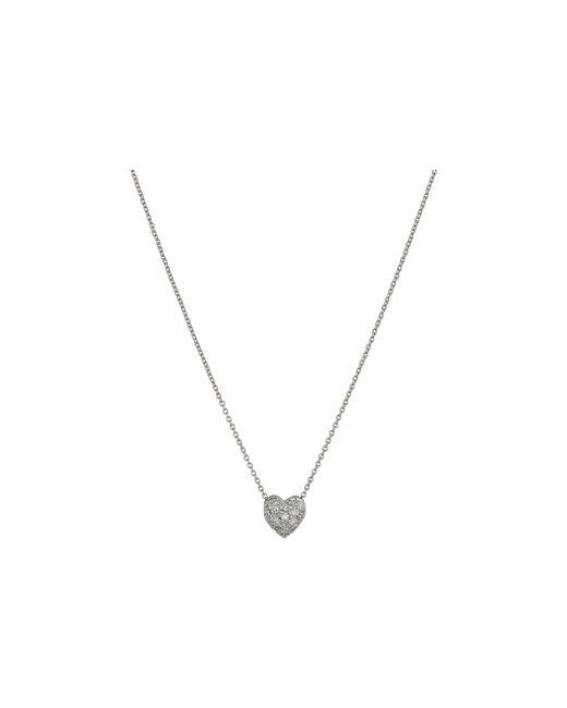 Roberto Coin | Metallic Puffed Heart Pendant With Diamonds | Lyst