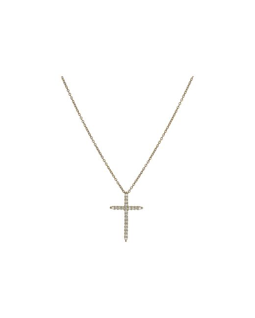 Roberto Coin | White Tiny Treasures Cross Pendant With Diamands | Lyst