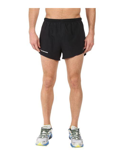 "New Balance | Black Impact 3"" Split Shorts for Men | Lyst"