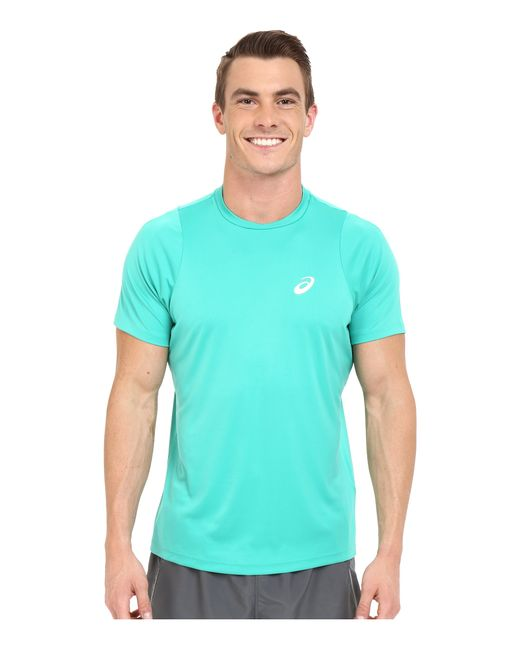 Asics   Green Club Short Sleeve Top for Men   Lyst