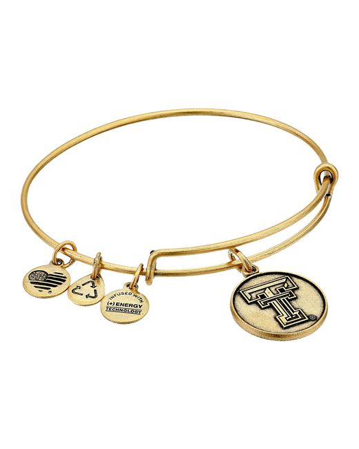 ALEX AND ANI | Metallic Texas Tech University Logo Expandable Bangle | Lyst