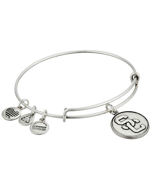 ALEX AND ANI | Metallic University Of Southern California Logo Expandable Bangle | Lyst