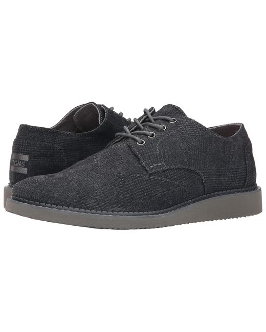 TOMS | Gray Chambray Brogue Shoes for Men | Lyst