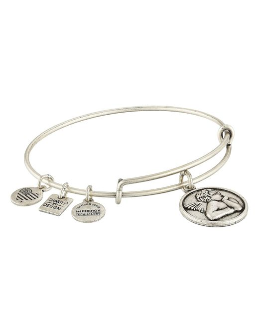 ALEX AND ANI | Metallic Charity By Design - Cherub Expandable Charm Bangle Bracelet | Lyst