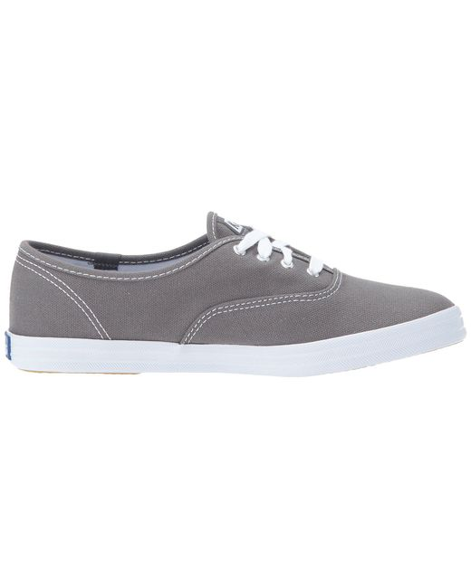 eab3211126f ... Keds - Gray Champion-canvas Cvo (graphite) Women s Lace Up Casual Shoes  for ...