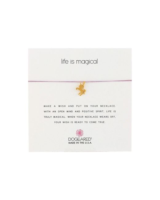 Dogeared   Metallic Life Is Magical Unicorn Make A Wish Necklace   Lyst