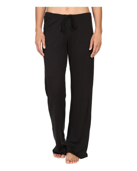 Yummie By Heather Thomson | Black 2x1 Pima Rib Wide Leg Pants | Lyst