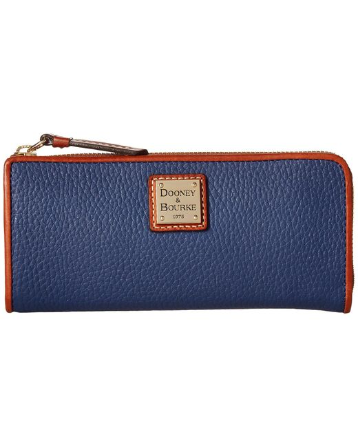 Dooney & Bourke | Blue Pebble Zip Clutch | Lyst