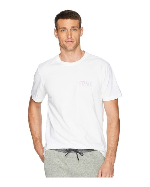 Lyst - Stance Circle Up (white) Men s T Shirt in White for Men 79fb262fa